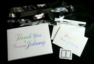 ジャニーさんお別れの会 関係者の会葬御礼の品
